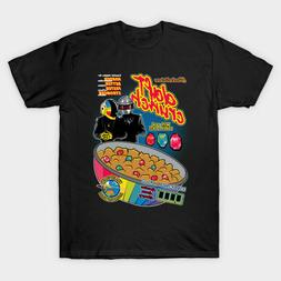 Daft Crunch Daft Punk Cereal Funny Electronic Duo Black T-Sh