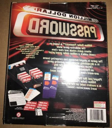 Million Dollar Password Game Electronic Word Guessing NEW Sealed