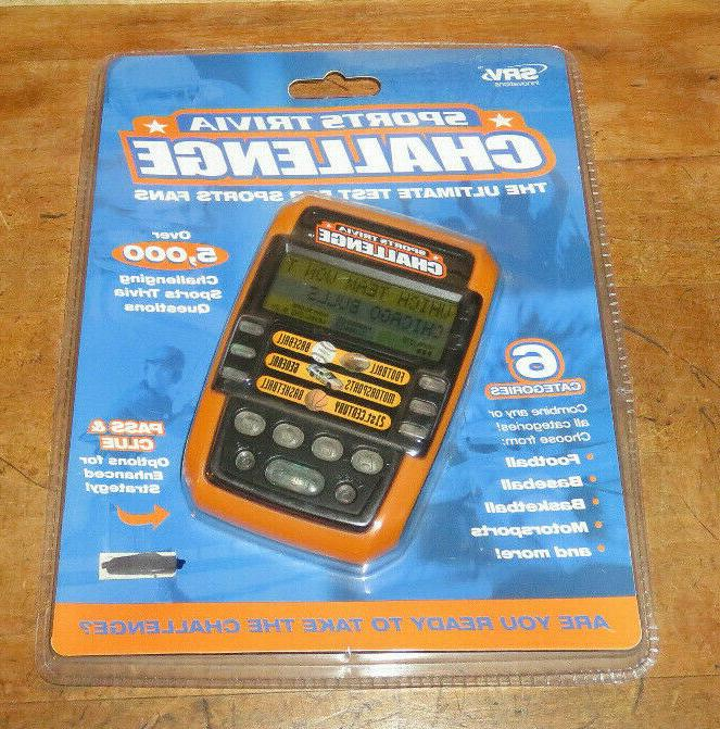 new sports trivia challenge electronic hand held
