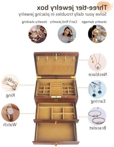vvhu Wooden with Fingerprint Drawers Jewel 3