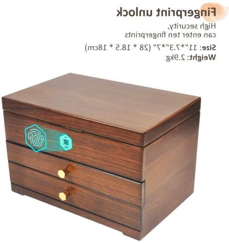 vvhu Jewelry Box with Lock, Drawers 3