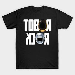 Robot Rock Daft Punk Electronic Music Duo Alive Black T-Shir
