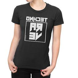 TECHNO RAVE Ladies T-Shirt Music Dance Cross Electronic Tran